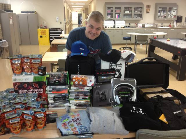 Care Package Arrives At Walter Reed Hospital